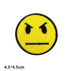 angry face patch funny patch embroidered patch iron on patches sew on patch iron on appliqué