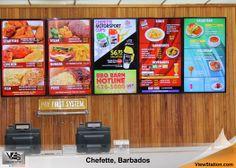 Chefette Barbados - Caribbean Islands ViewStation QSR (Quick Service Restaurant) by ITSENCLOSURES Digital Menu Board #ViewStation