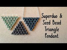 Super Duo and Seed Bead Triangle Pendant Tutorial ¦ The Corner of Craft - All