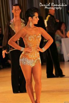 Ballroom dancing, shiny dress