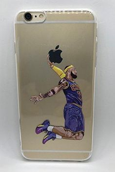 6013bb6987c Lebron Dunk, crystal clear TPU silicone, gel soft, shock absorbent, color  printed Basketball Star, L James Dunk print protective case for Apple iPhone  8