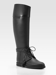 these will be my new rain boots. Givenchy Lace-Up Rain Boot Cute Rain Boots, Rain Shoes, Riding Boots, Combat Boots, Men Boots, Shoe Collection, New Shoes, Beautiful Outfits, Givenchy