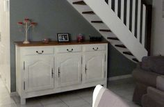 Buffet avec Tuto Deco Furniture, Paint Furniture, Upcycled Furniture, Furniture Makeover, Home Furniture, Home Staging, Oh My Home, Home Living Room, Sweet Home