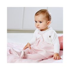 Dress with bow in rose, the classic in the slightly fancier baby fashion for . Cute Outfits For Kids, Baby Boy Outfits, Cute Kids, Cute Babies, Beautiful Children, Beautiful Babies, Baby Girl Fashion, Kids Fashion, Baby Kind