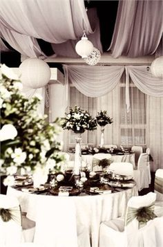 White wedding decor  #Purple wedding receptions ... Wedding ideas for brides, grooms, parents & planners ... https://itunes.apple.com/us/app/the-gold-wedding-planner/id498112599?ls=1=8 … plus how to organise an entire wedding, without overspending ♥ The Gold Wedding Planner iPhone App ♥