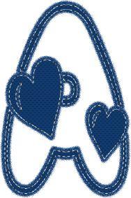 Alfabeto Decorativo: Alfabeto - Coração - PNG - Maiúsculas e Minúsculas...
