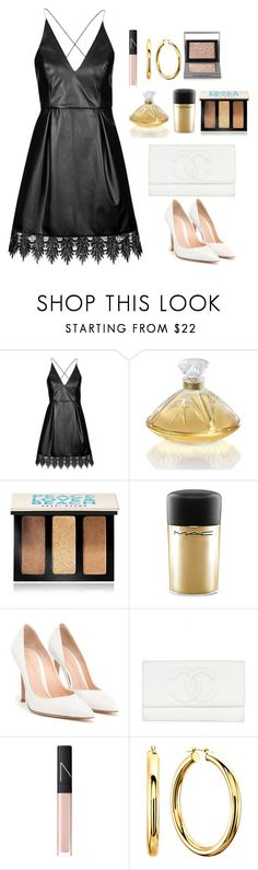 """Untitled #500"" by alibasicamina ❤ liked on Polyvore featuring Topshop, Lalique, Bobbi Brown Cosmetics, MAC Cosmetics, Gianvito Rossi, NARS Cosmetics and Burberry"