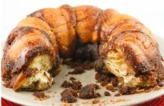 Bundt-shaped Monkey Bread with a Cream Cheese Center