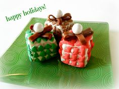 Sugar Swings! Serve Some: Wrapped Christmas Present Krispie Treats