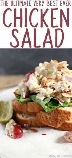 The Rise Of Private Label Brands In The Retail Meals Current Market The Best Chicken Salad Recipe - Fresh And Fruity Chicken Salad Recipe Best Chicken Salad Recipe, Chicken Curry Salad, Pasta Salad Recipes, Chicken Recipes, Entree Recipes, Vegan Recipes Easy, Dinner Recipes, Easy Cooking, Cooking Recipes