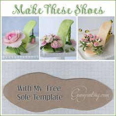 {A Sole Template for Gumpaste/Fondant Shoes}