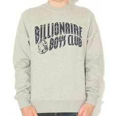 Billionaire Boys Club L/S Classic Crew Neck Grey - Billionaire Boys Club - Brands @wellgosh