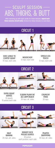 Printable Workout: Sculpt Session For Abs and Glutes: