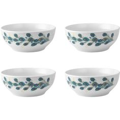 The artistic and trendy design of these Peacock Cereal Bowls, by Gourmet Basics by Mikasa, will add style and excitement to your next entertaining event. These...