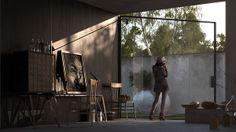 interior by liraat visuals, via Behance
