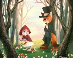 Little red riding hood and the sly fox