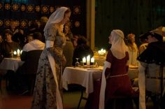 Faulous food and entertainment at the Abbey Medieval Banquet heralding the beginning of the Abbey Medieval Festival