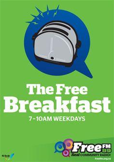 What i do Friday Mornings , The Free Brakfast , Free FM 89.0 , Waikato Hamilton , New Zealand