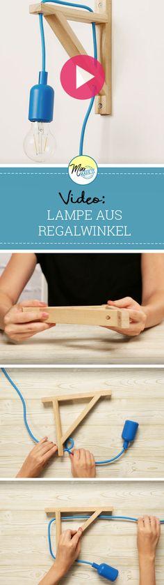 Genialer Ikea Hack: Bastle eine DIY Lampe aus einem Regalwinkel