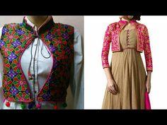 Ladies jacket full cutting and stitching in Hindi / ladies ethnic jacket - YouTube