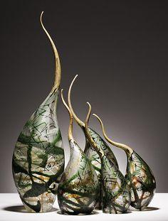 Rick Eggert, Artist, Squiggle Clove, blown glass #PurelyInspiration #ArtOnTap