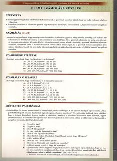 5.6. Az elemi számlás készség felvétele és értékelésének módja