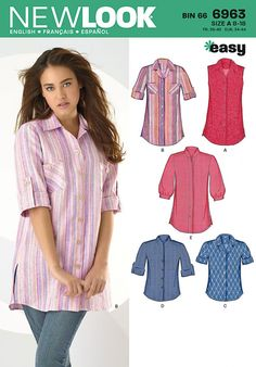 944bc889fa4 New Look Sewing Pattern 6963 Misses  Tops
