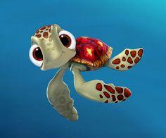 Disney Nemo and Dory Wallpaper XL GreatKidsBedrooms the Disney Pixar, Disney Art, Disney Movies, Walt Disney, Cute Turtles, Sea Turtles, Disney Kunst, Illustration, Disney Tattoos