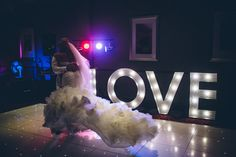 First Dance Winter Wedding Photography  LOVE Letters