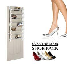 shoe rack with over-the-door design Over Door Shoe Rack, Door Design, Getting Organized, Pairs, Shoes, Zapatos, Shoes Outlet, Organizing Clutter, Shoe