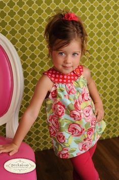 idea for dress  (Circle-Top Shirt PDF Pattern, Baby, Toddler Girl newborn to 5T - $7.95.  You can also lengthen the bodice to make the perfect summery dress. Pattern includes 20 pages of detailed instructions and 3 pages of pattern pieces to cut out--NO PIECING OR TAPING of pattern pieces is required! :)   Pattern appropriate for beginner+. * use with flower and stripe fabric)