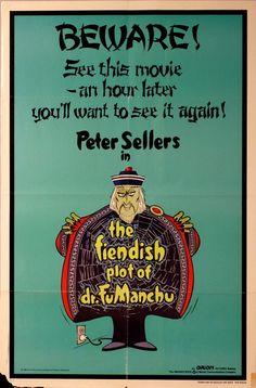 "Fiendish Plot of Fu Manchu,The. Original 1980 US 27"" x 41"" Theater Movie Poster. Peter Sellers ,Sid Caesar, David Tomlinson, Helen Mirren. by ArtisticSoulStudio on Etsy"