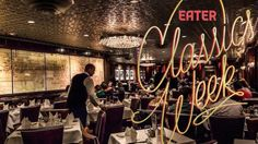 30 Classic Restaurants Every Montrealer Must Try - Eater Montreal Montreal, Classic Restaurant, Quebec City, Foodie Travel, Tour Guide, Old Things, Neon Signs, Ceiling Lights, Restaurants