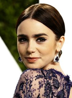 Brow bona fide: Speaking to Access Hollywood, Lily Collins said that her brows are all natural. Description from fashionnstyle.com. I…