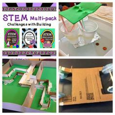 Fantastic Money-Saving set of three STEM Challenges: Build a Car, Build a Boat, Build a Marble Maze! Elementary Science, Science Classroom, Teaching Science, Teaching Tools, Stem Science, Easy Science, Science Labs, Science Ideas, Science Experiments