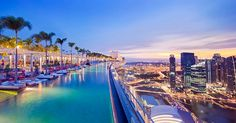 Marina Bay Sands -- Sands SkyPark Infinity Pool in Singapore. Absolutely amazing.