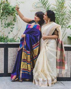Silk saree and cotton saree