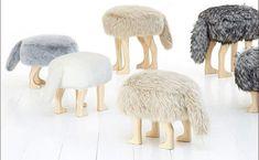 cute + fuzzy animal stools