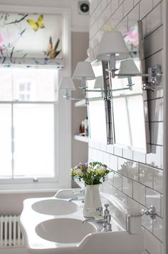 Luv this double porcelain sink from the uk...Laura Butler Maddern Interior Design Inspiration - The Maker Place
