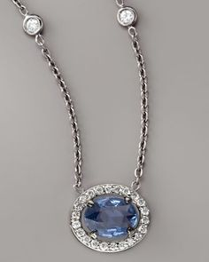 Sapphire & Diamond Necklace by Penny Preville at Neiman Marcus.