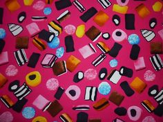 FQ LIQUORICE ALLSORTS FABRIC SWEETS CANDY KITSCH