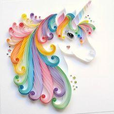 Unicorn quilling-Galaxy unicorn