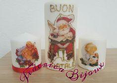 Federica Bijoux : Candele personalizzate natalizie da 8cm e da 15cm....