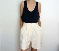 High-Waisted Silk Shorts