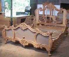 Oh please....that I could be this talented!  Hand Made Rococo King Bed by Mbw Furniture | CustomMade.com