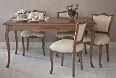 Mesa de comedor Provenzal con sillas Versalles Furniture Board, Fine Furniture, Furniture Decor, Dinning Set, Luxury Chairs, Cool Curtains, Traditional Furniture, French Decor, Home Decor Bedroom