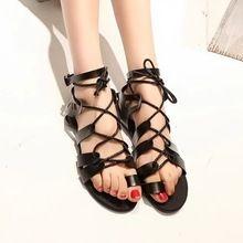 a96dfdcfac6cfe Hot sale brand new 2014 fashion women Flat sandals rhinestone cutout summer  shoes High quality open toe ladies shoes