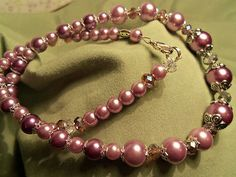 Light Purple Glass Pearl Necklace
