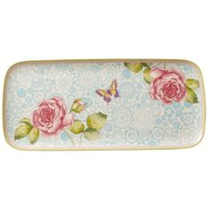 Villeroy & Boch Rose Cottage Sandwich Tray (€92) ❤ liked on Polyvore featuring home, kitchen & dining, serveware, multi, porcelain tray, sandwich trays, rose tray and villeroy & boch