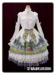 追憶の鏡の中のLabyrinth柄 ワンピース/Labyrinth In The Reminiscent Mirror One Piece Dress